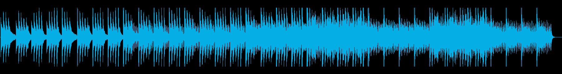 不安感を煽るホラー系テクスチャーの再生済みの波形