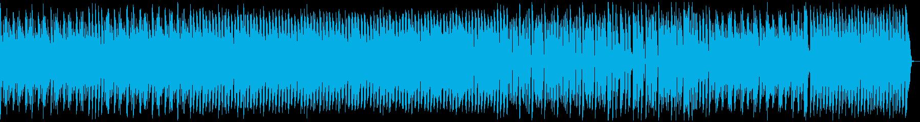 荒野を走るイメージのシンセリードBGMの再生済みの波形