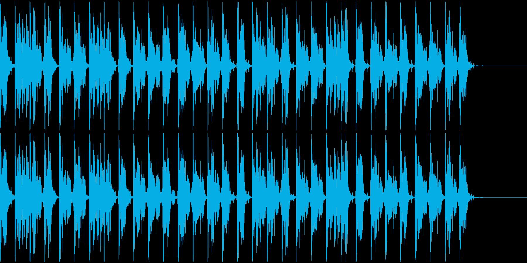 【エレクトロニカ】ロング5、ショート4の再生済みの波形