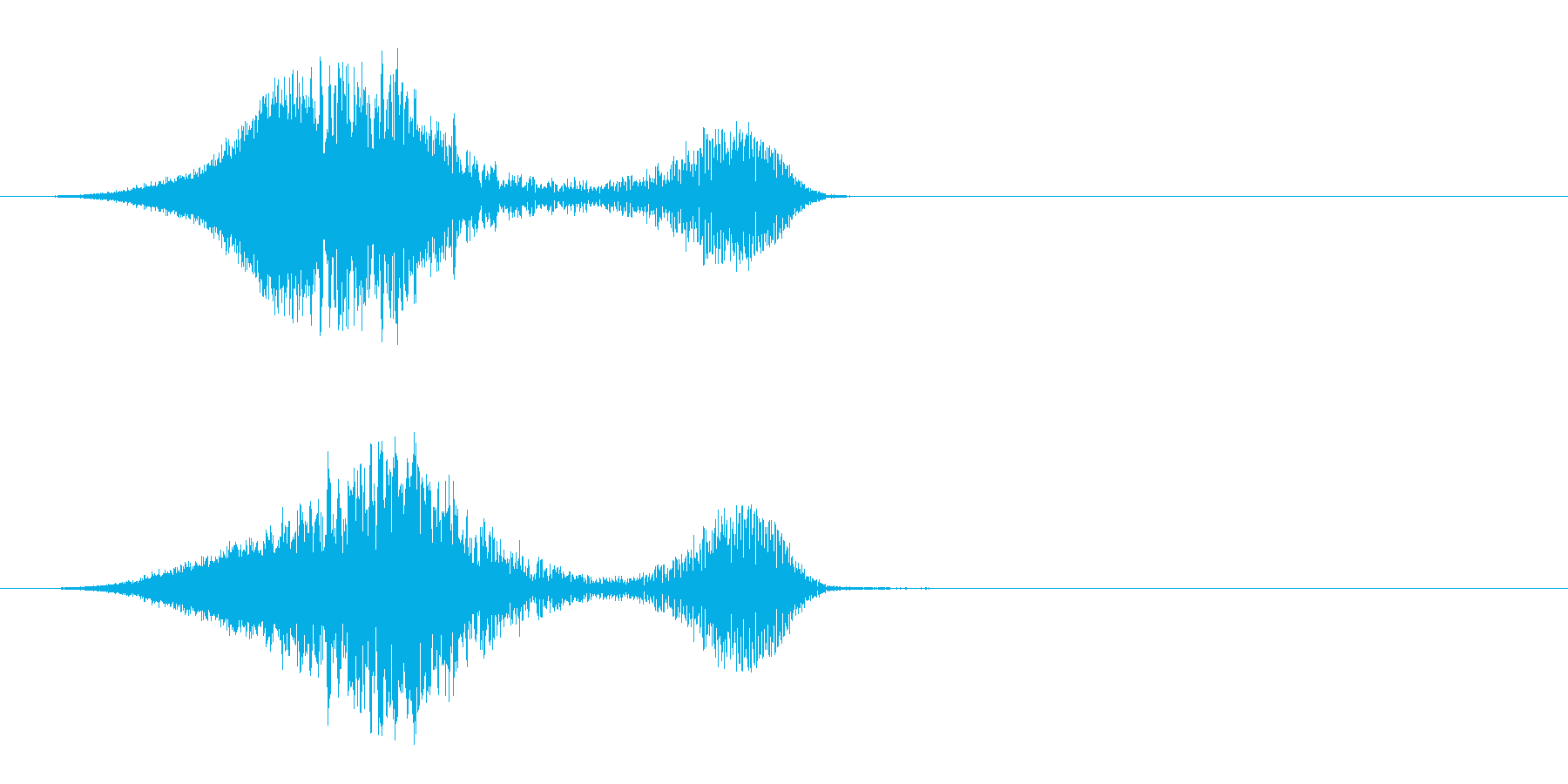 ヒューシュヘビーパワーダブルの再生済みの波形