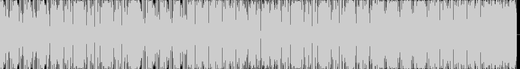 ハウスのリズムにファンクなベースの未再生の波形