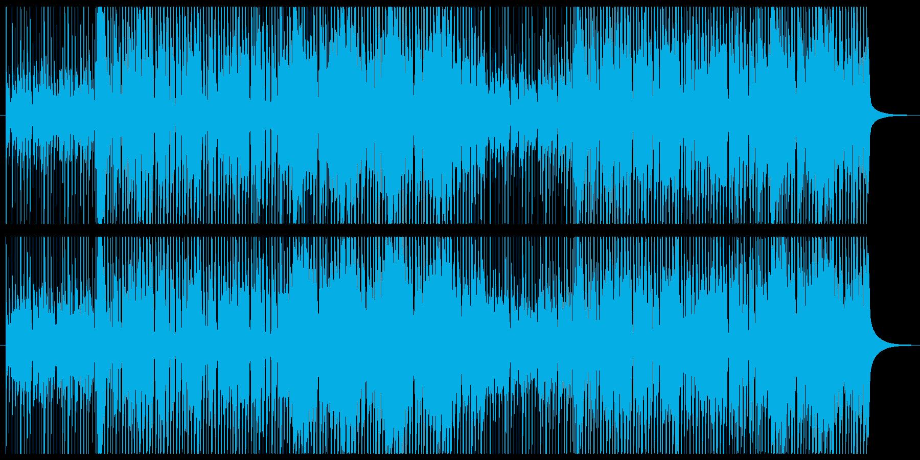 アップテンポな可愛いコンセプトムービー風の再生済みの波形