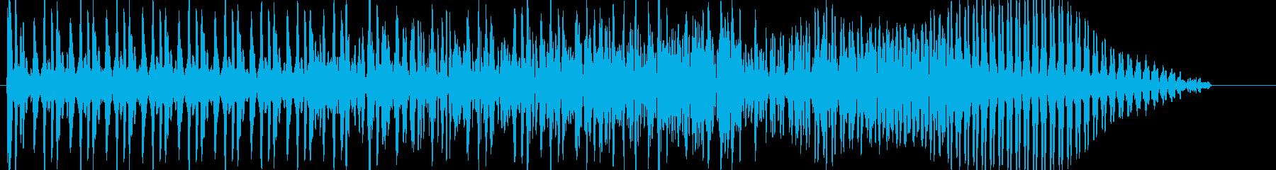炎系の魔法のようなSEの再生済みの波形