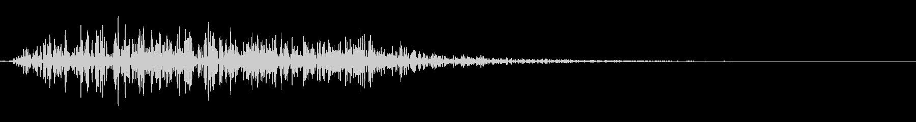 ハリウッド風のタイトル音(重)の未再生の波形