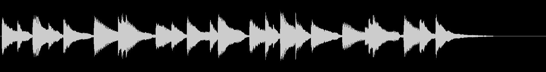 切ないピアノジングルの未再生の波形