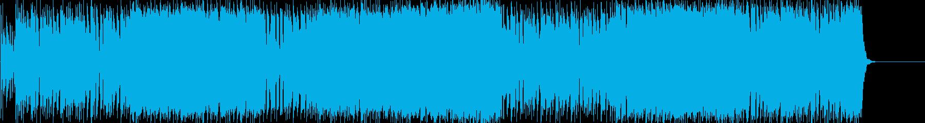 情熱的で力強い、重たいハードロックの再生済みの波形