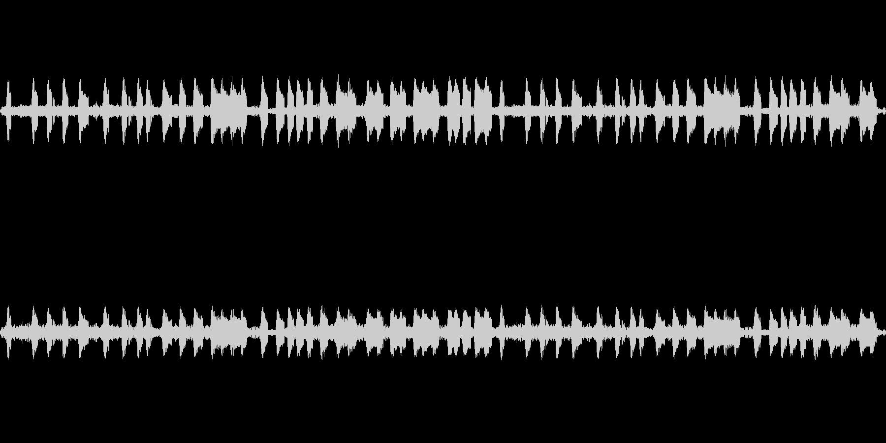 公園で秋虫(コオロギ)を収録の未再生の波形