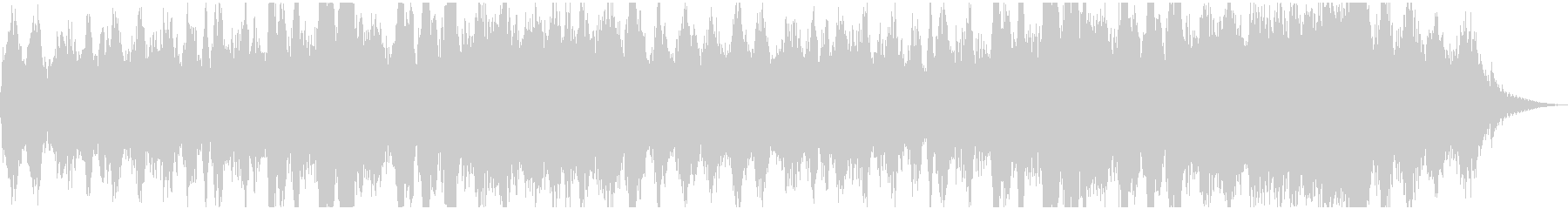 シンセサイザーと肉声で作る神秘的な地平線の未再生の波形