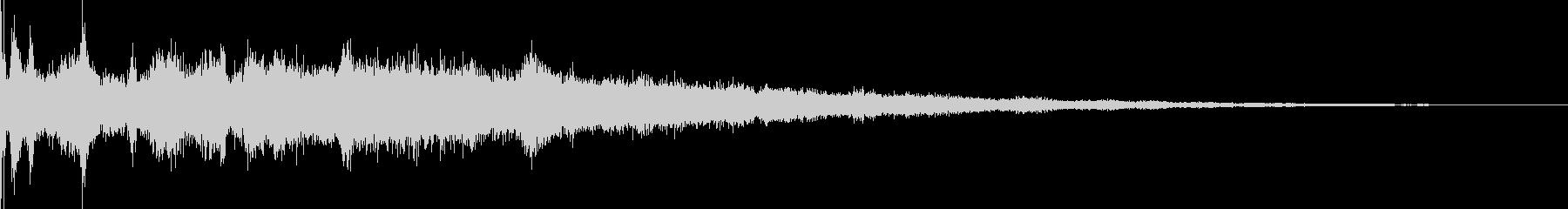 氷魔法02(冷気属性魔法)の未再生の波形