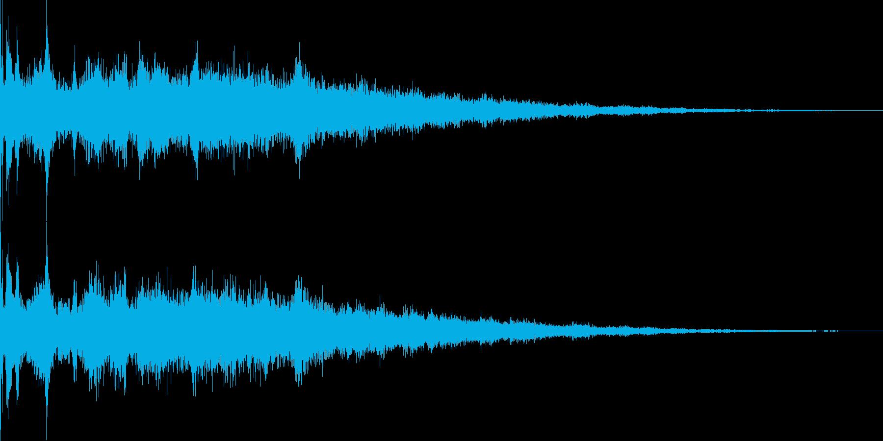 氷魔法02(冷気属性魔法)の再生済みの波形