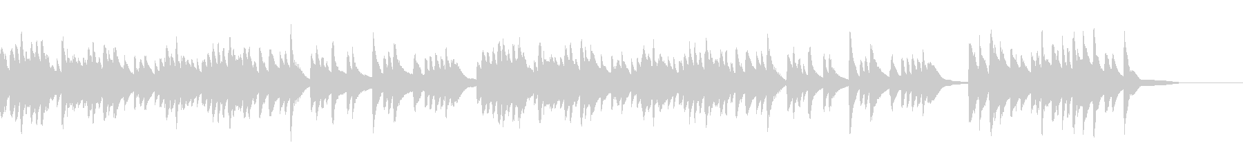「熊本・天草地方の子守唄」ハープインストの未再生の波形