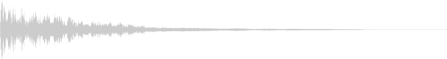 ずっしりとした鐘の音と、尾をひく低音の未再生の波形