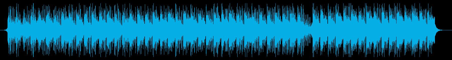 医療音楽の再生済みの波形