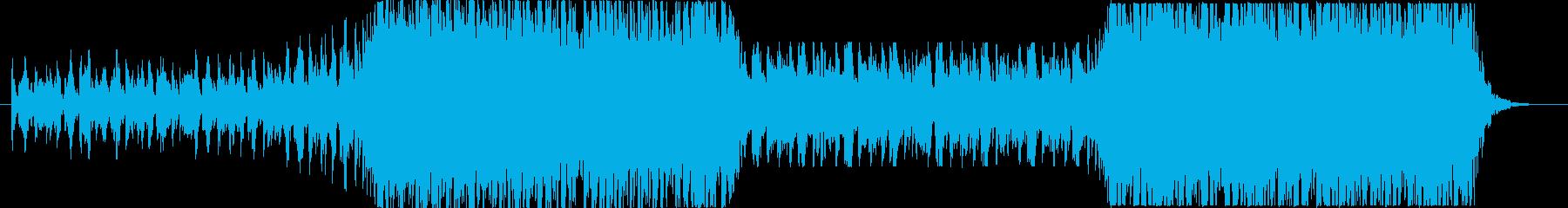 アニメ、BGMなど連想させるで壮大な曲の再生済みの波形