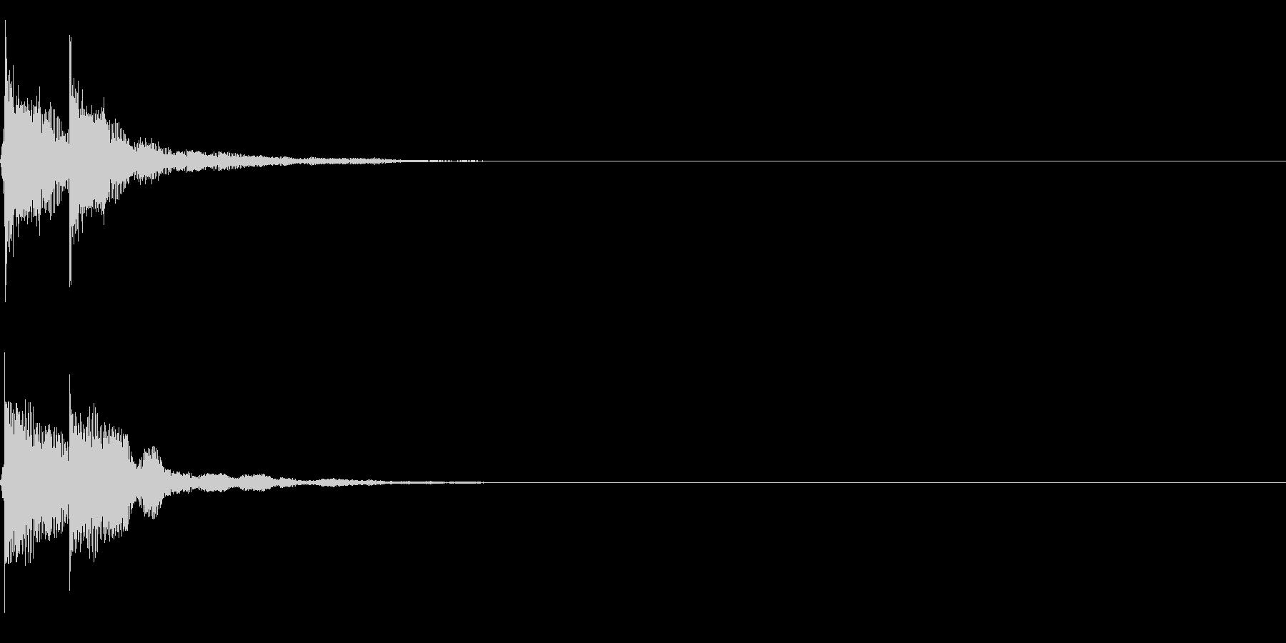 三味線/和風/システム音/B-6の未再生の波形