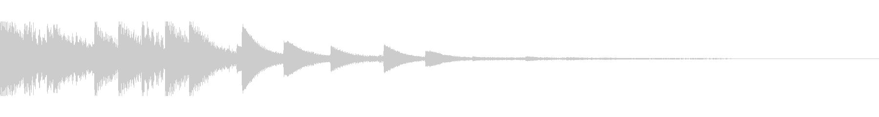 [ティロリン]スキルUP(可愛く軽やか)の未再生の波形