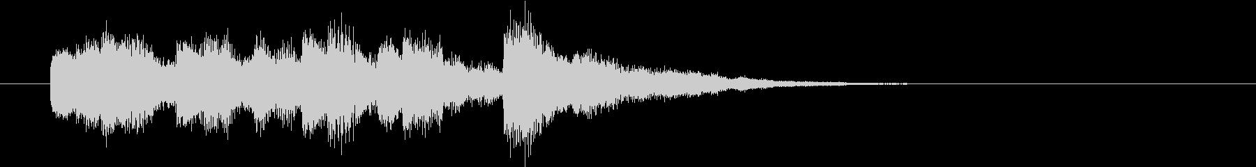 ニュース2 CM前後転換ジングル 発車音の未再生の波形