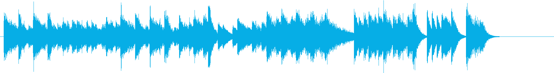 節分!鬼のパンツモチーフピアノジングルEの再生済みの波形