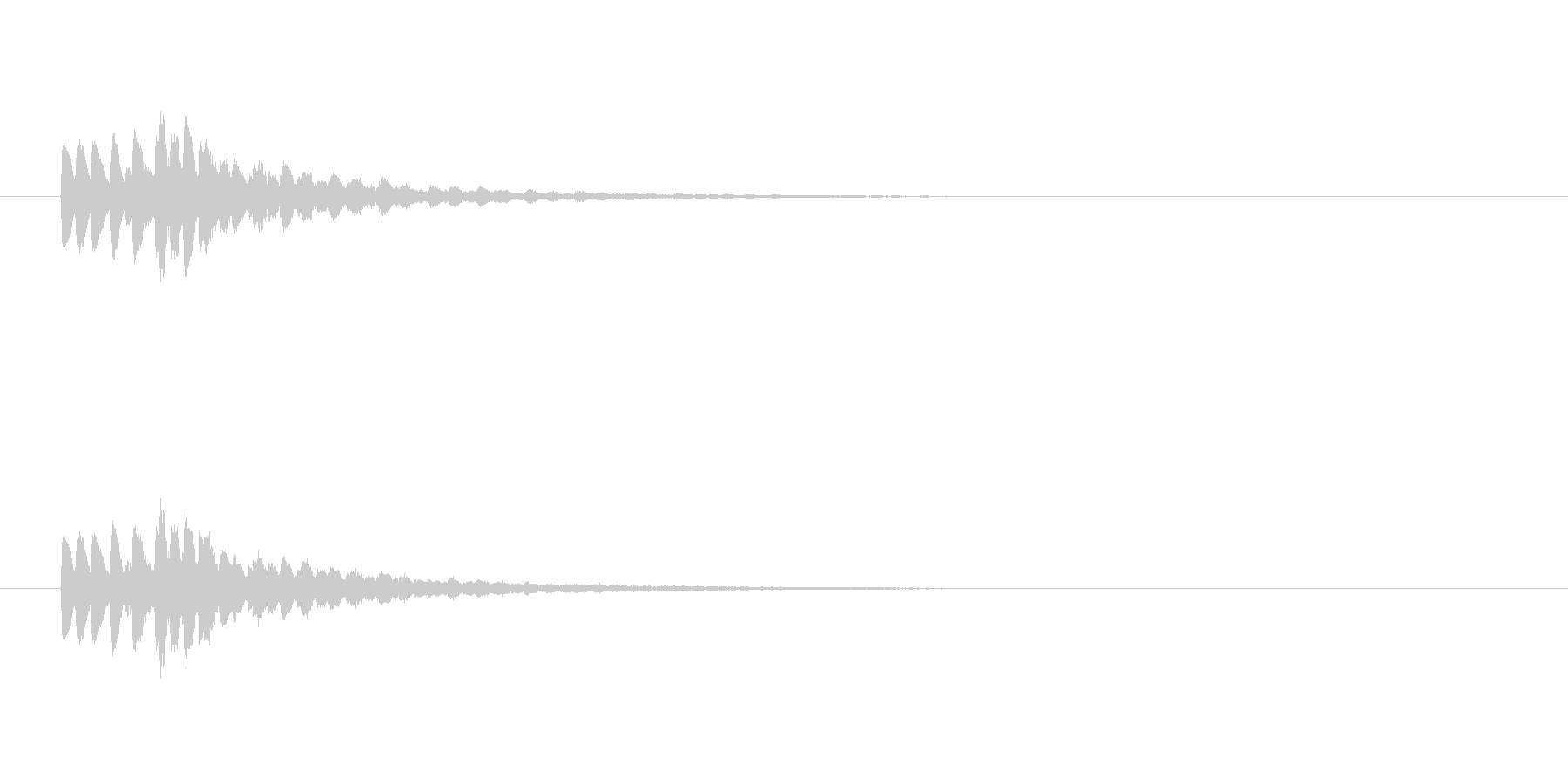 【ショートブリッジ17-6】の未再生の波形