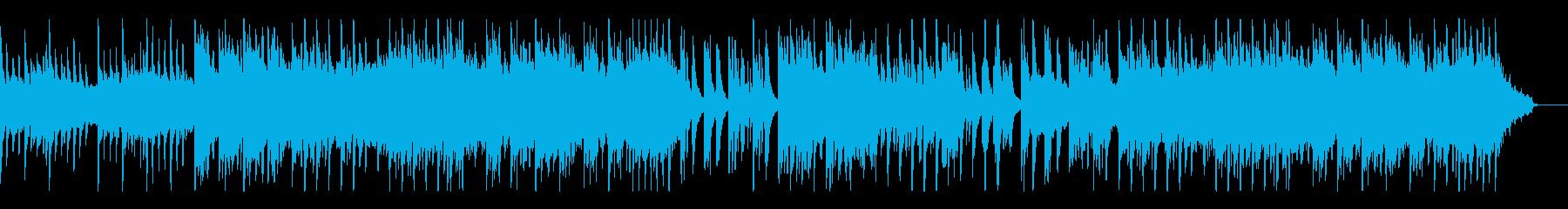 ピアノとシンセパッドによるシンプルなBGの再生済みの波形