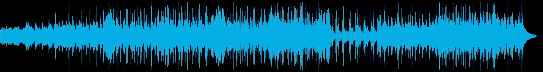 明るいフォークギターポップス:ピアノ抜きの再生済みの波形