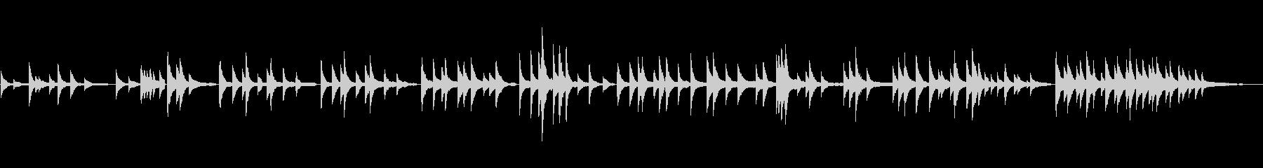 生ピアノソロ・祈りの未再生の波形