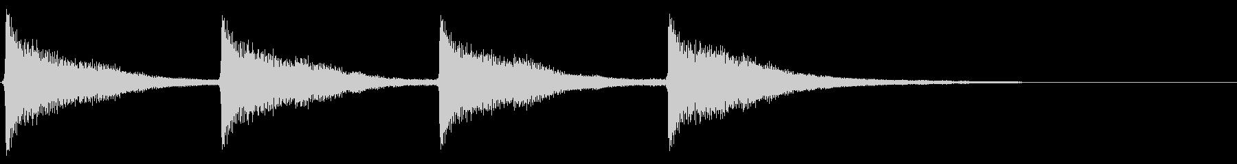 時計搭/時報/鐘/ゴーン/連続音の未再生の波形