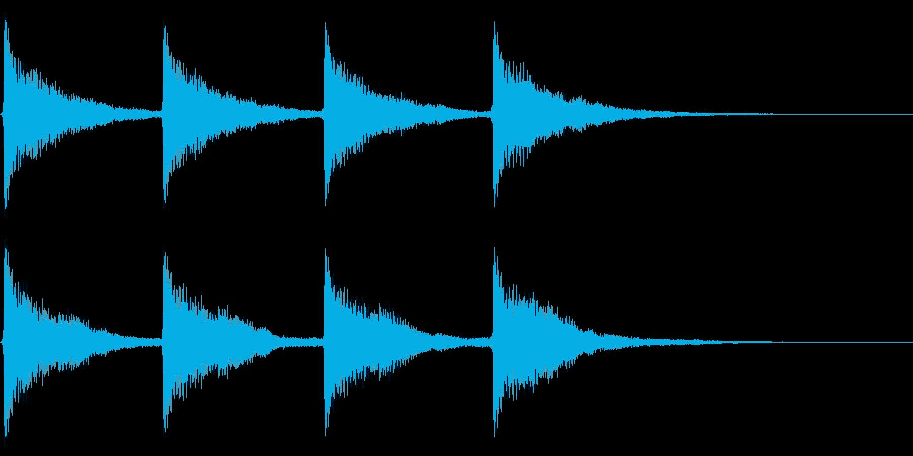 時計搭/時報/鐘/ゴーン/連続音の再生済みの波形