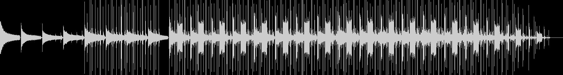 ゆったりした夜の雰囲気のヒップホップの未再生の波形