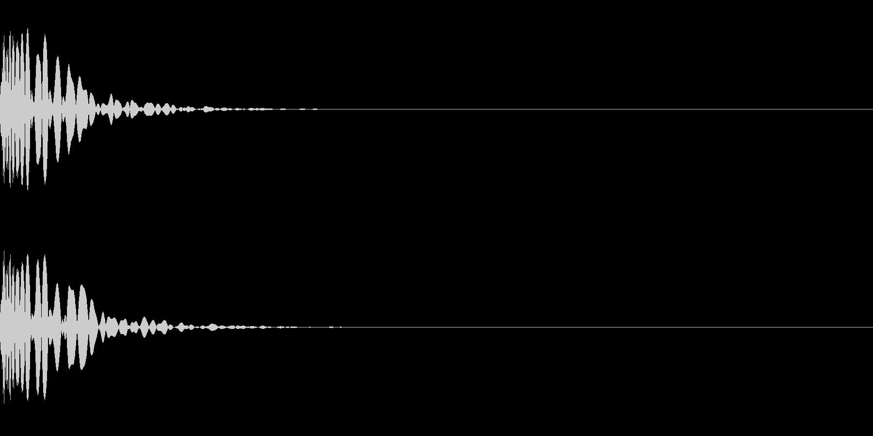ミックス処理済みキック(単発)_01の未再生の波形