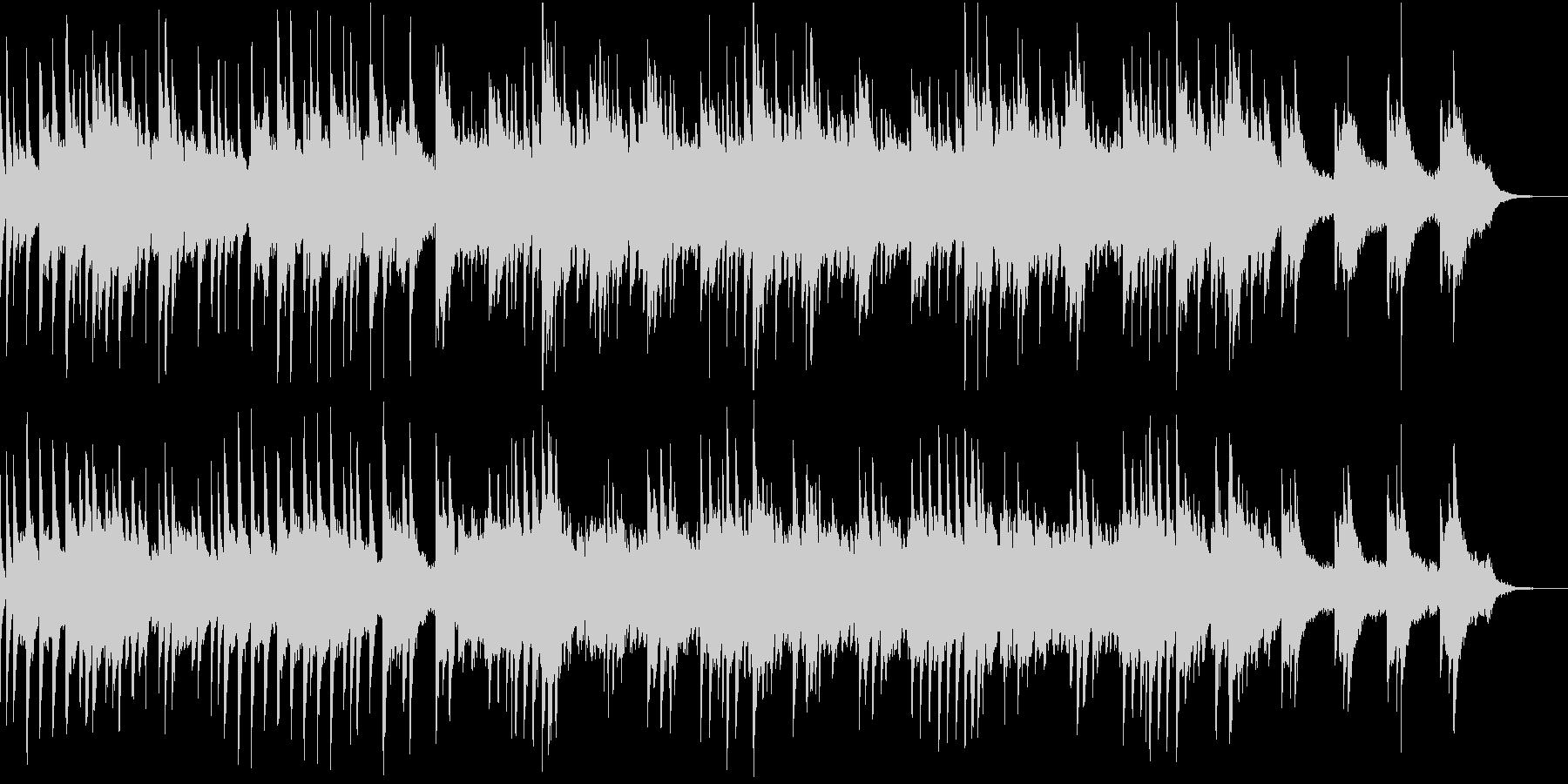 回想、ゲームオーバー時の切ないピアノの未再生の波形
