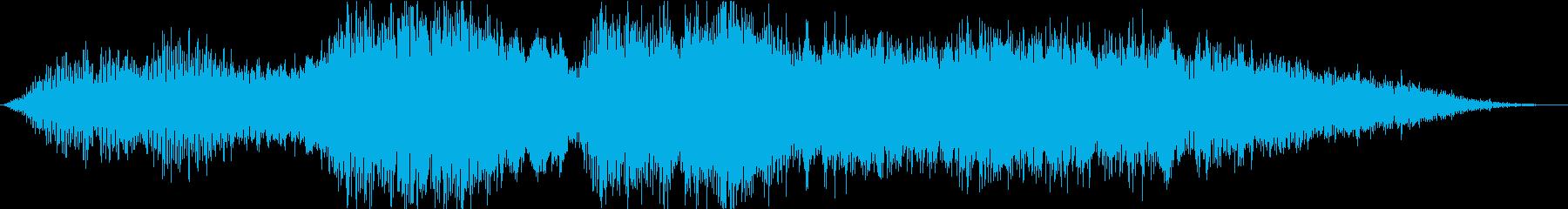 効果音と背景テクスチャの広々とした...の再生済みの波形