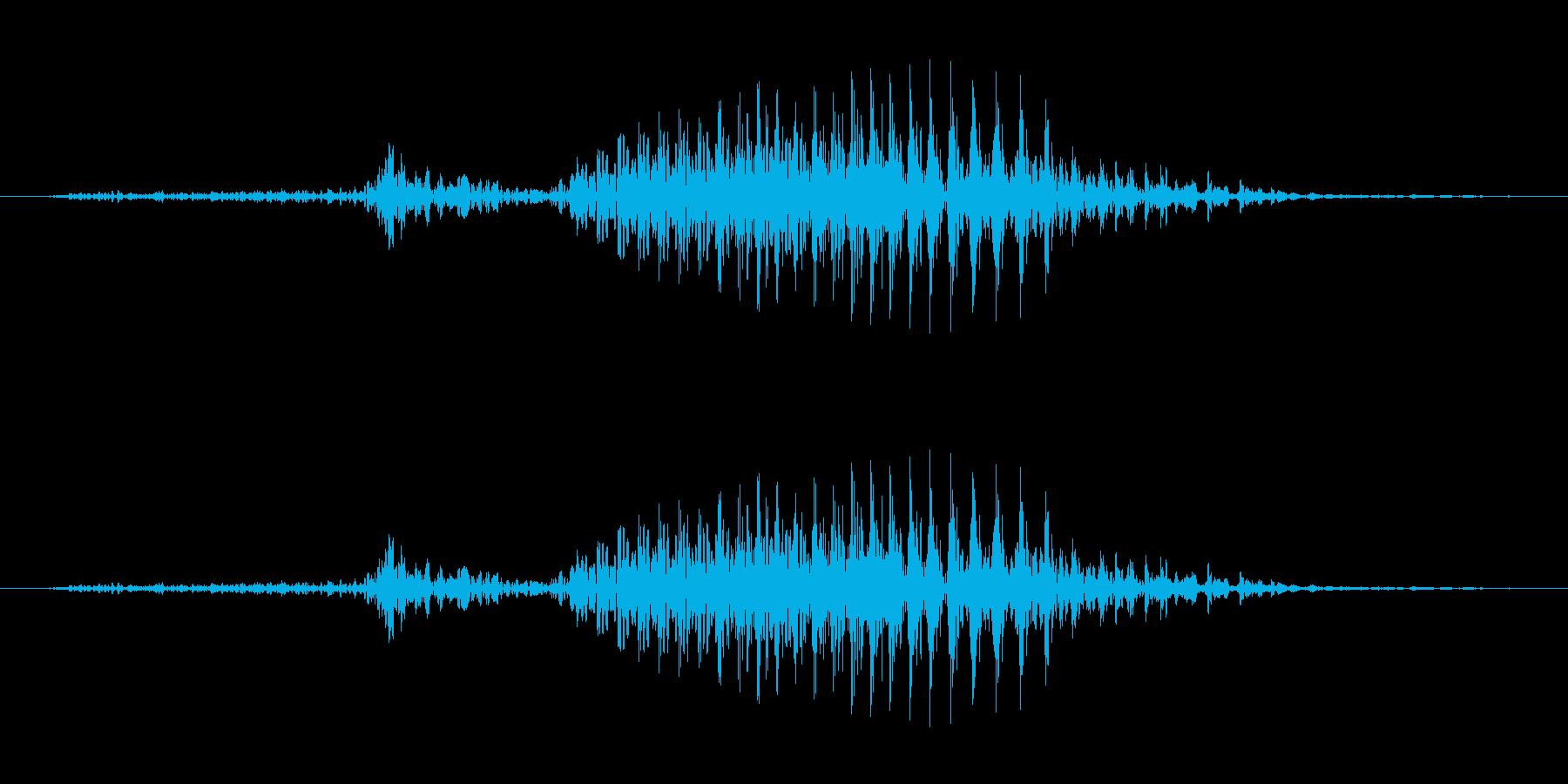 3 (three, 英語、米国男性声優…の再生済みの波形