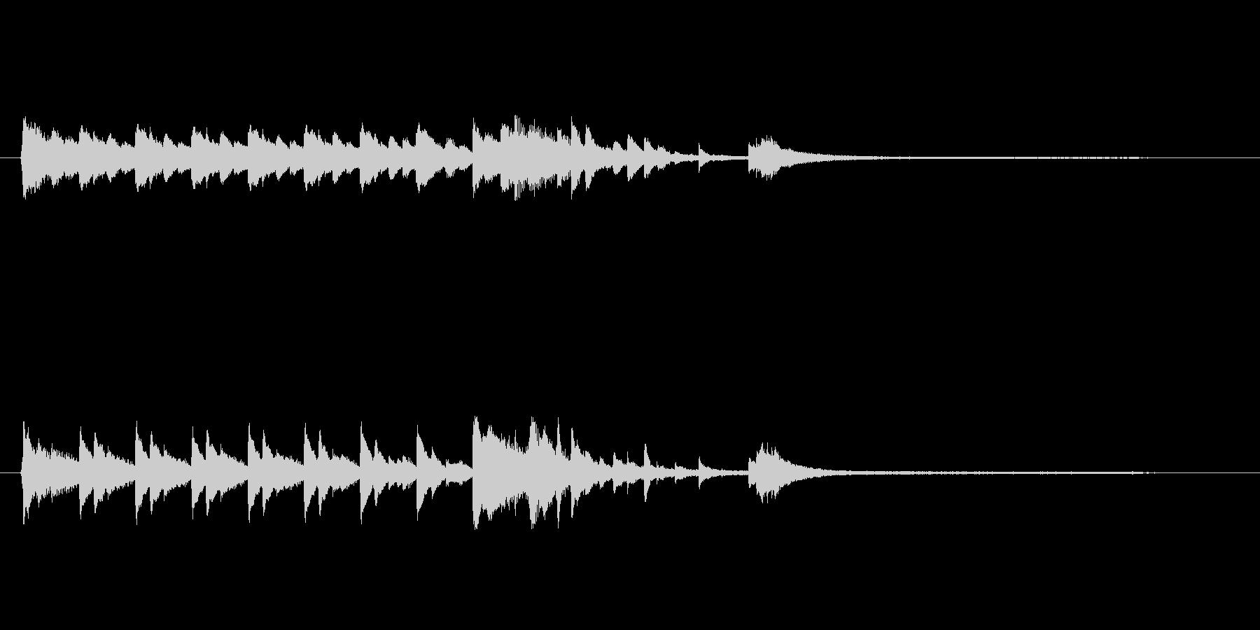 きれいなピアノの音色でロゴ、ジングルの未再生の波形