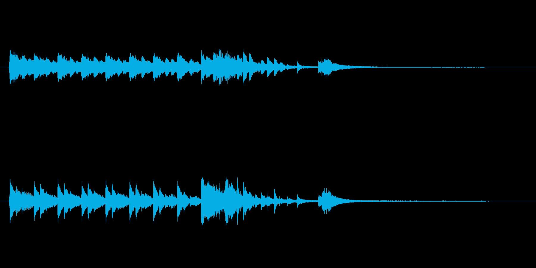 きれいなピアノの音色でロゴ、ジングルの再生済みの波形