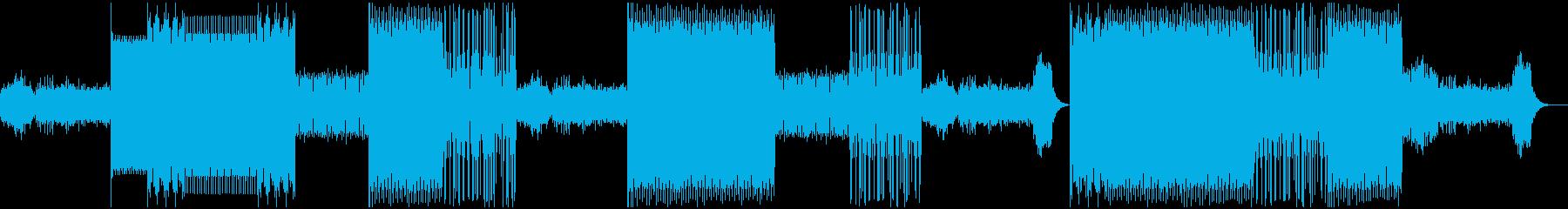 サイバーチックなダークテクノの再生済みの波形