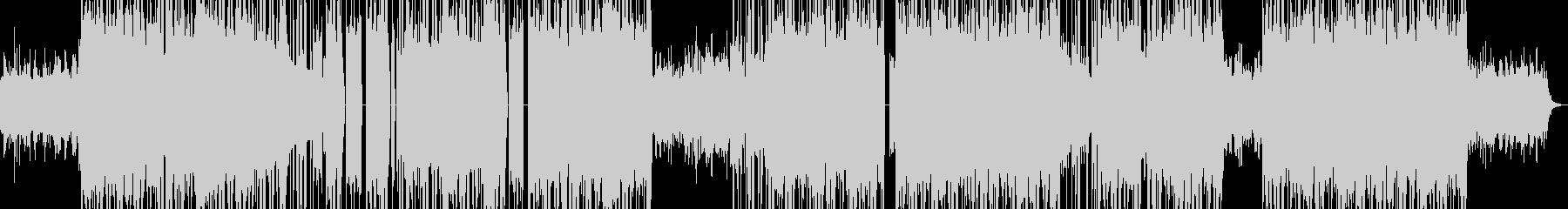 シンセサイザーのマイナーコード曲の未再生の波形