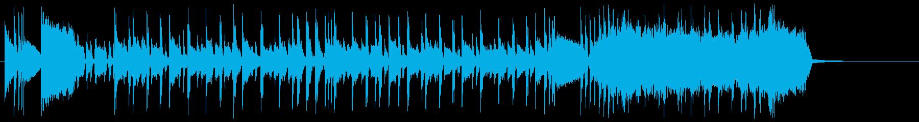 攻め攻めファンキーギターサウンドロゴの再生済みの波形