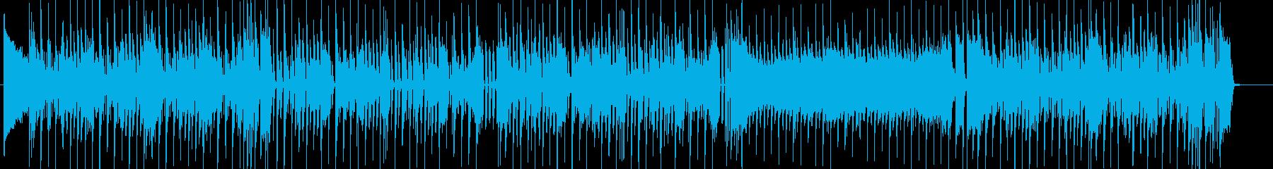 生サックス お洒落なエレクトロスウィングの再生済みの波形