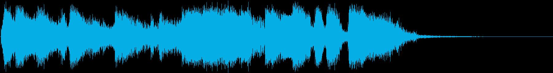 金管のOhMyGod入りジングルの再生済みの波形