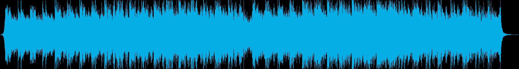 マリンバとピアノ中心のアンビエント曲の再生済みの波形