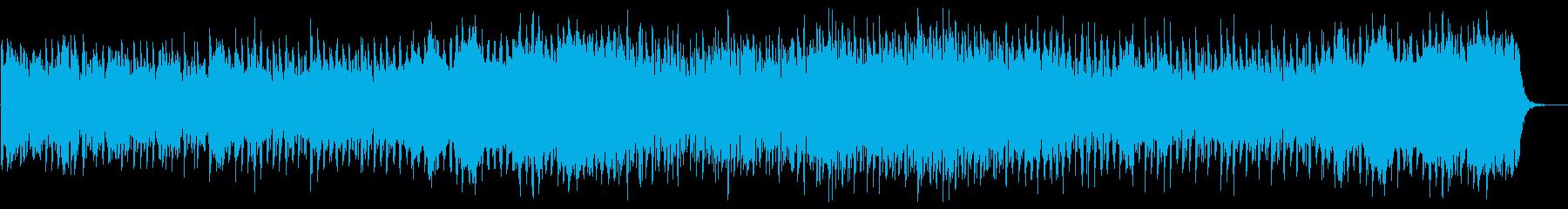 爽やかで少しほのぼのとしたBGMの再生済みの波形