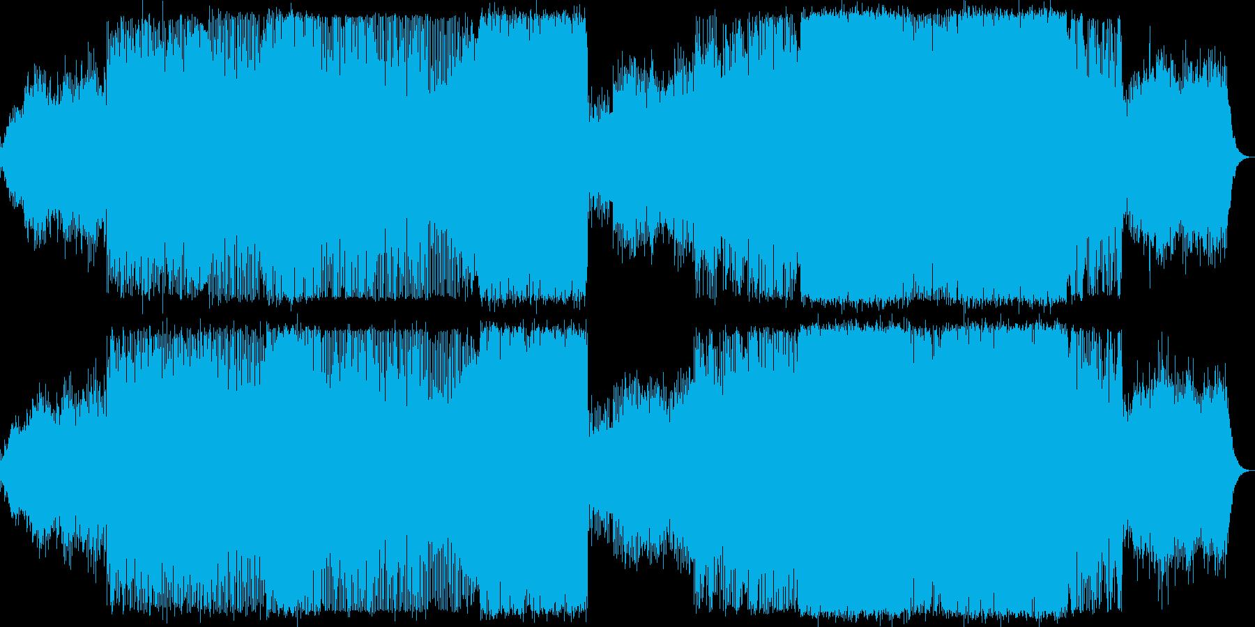 テンポをおさえたきれい目なトランスの再生済みの波形