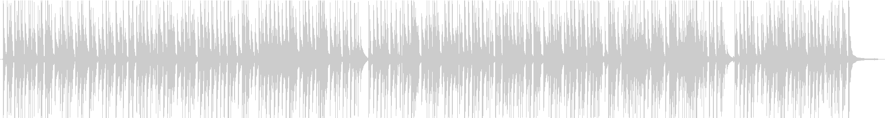 のんびりバカンスなウクレレの曲の未再生の波形