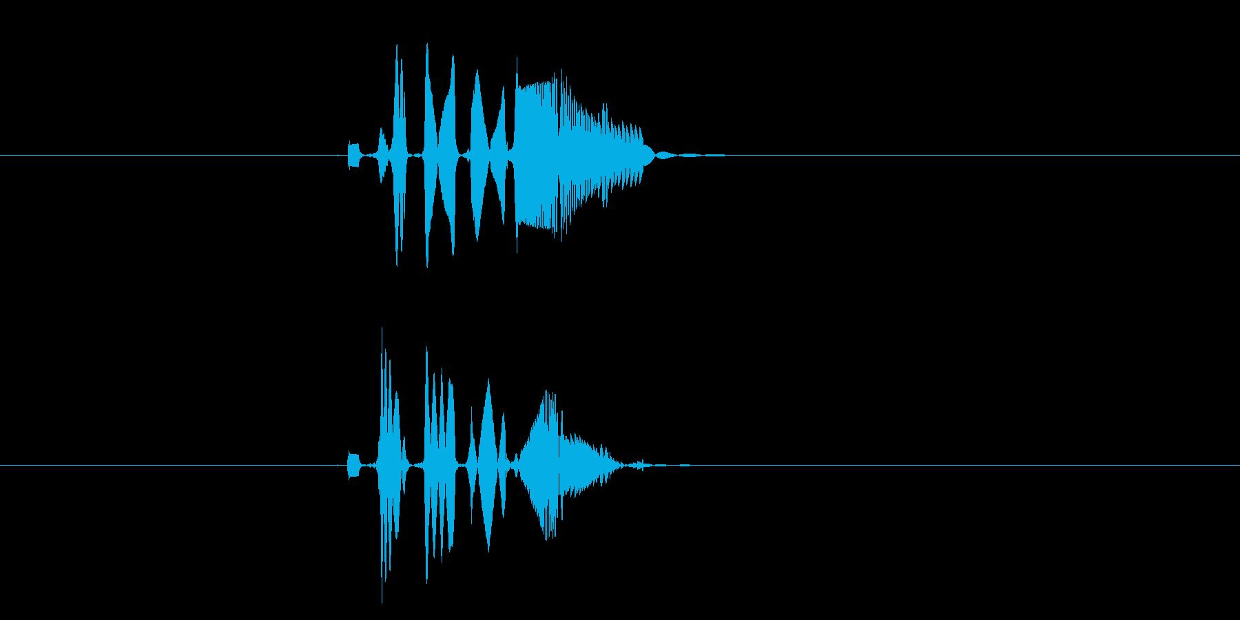 ピヒューンと聞こえる効果音の再生済みの波形