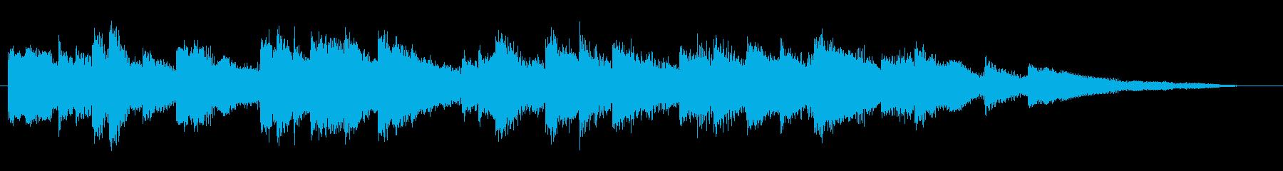 爽やか・明るい ピアノのジングル 20秒の再生済みの波形