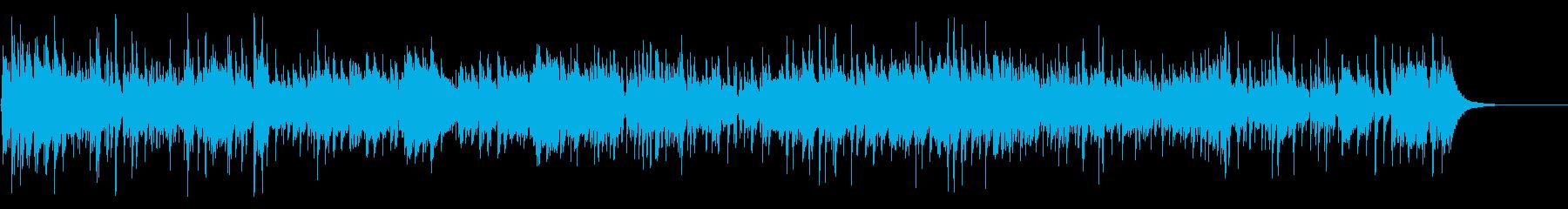 軽快なアコースティックギター曲の再生済みの波形