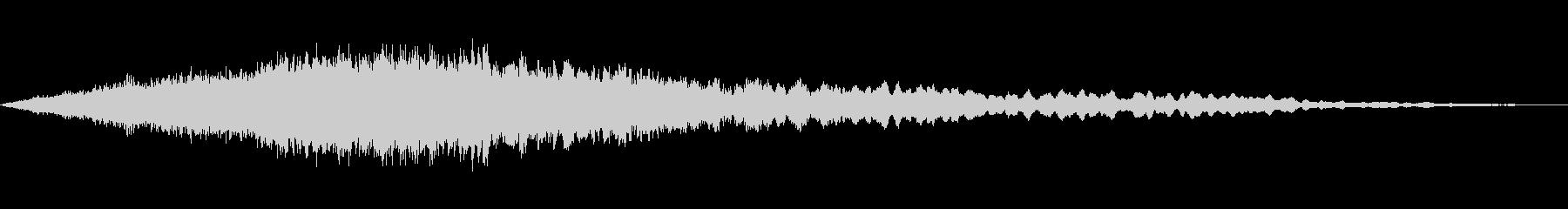 デジタル感あるギュイーンと、クワイアの未再生の波形