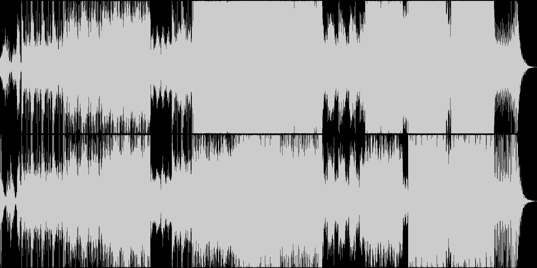 ブレイクビーツ系デジタル・ロックの未再生の波形