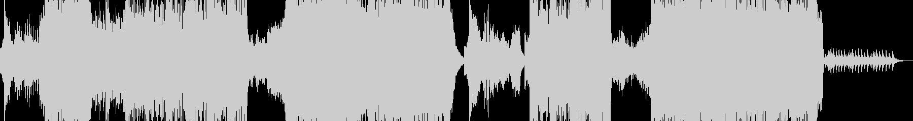 怒涛の歪みテクノコアの未再生の波形